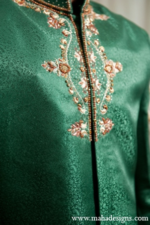 Pakistani groom outfit in Chicago, Illinois Pakistani Wedding by Maha Designs