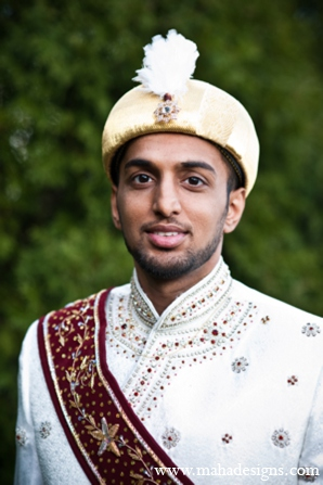 Pakistani grooms outfit in Chicago, Illinois Pakistani Wedding by Maha Designs
