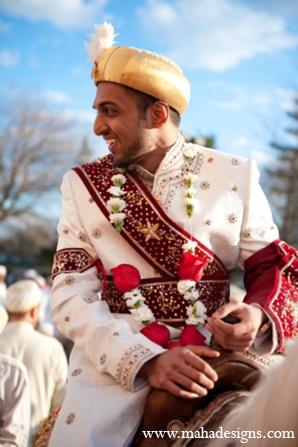 Pakistani wedding baraat in Chicago, Illinois Pakistani Wedding by Maha Designs