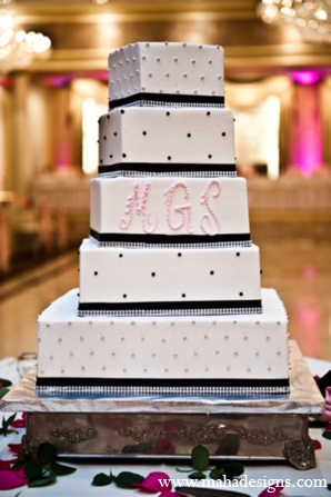 Pakistani wedding cake in Chicago, Illinois Pakistani Wedding by Maha Designs
