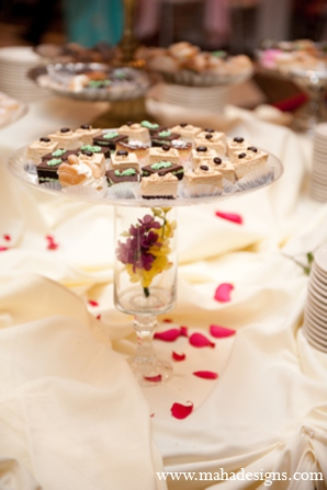 Pakistani wedding dessert in Chicago, Illinois Pakistani Wedding by Maha Designs