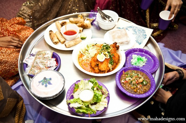 Pakistani wedding food in Chicago, Illinois Pakistani Wedding by Maha Designs