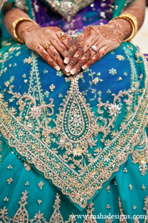 Pakistani wedding lehenga in Chicago, Illinois Pakistani Wedding by Maha Designs