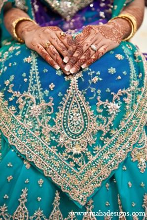 Pakistani wedding lehenga in Chicago, Illinois Pakistani Wedding by Maha Designs