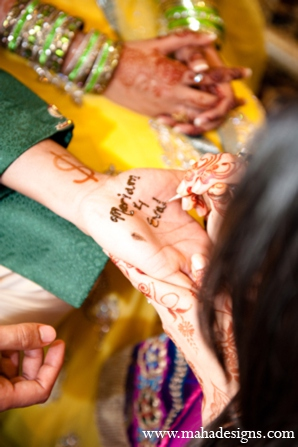 Pakistani wedding mehndi party in Chicago, Illinois Pakistani Wedding by Maha Designs