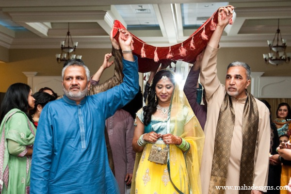 red,gold,yellow,traditional pakistani wedding,pakistani wedding traditions,Maha Designs