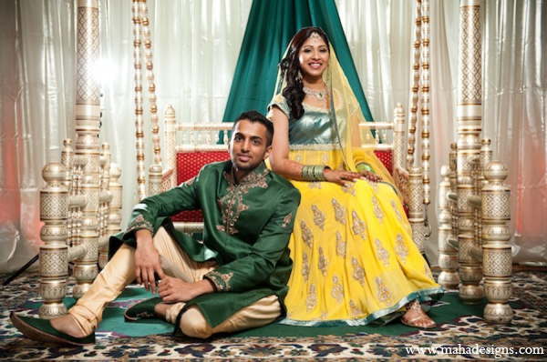 red,gold,yellow,green,traditional pakistani wedding,pakistani wedding traditions,Maha Designs