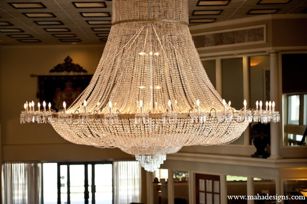 Pakistani wedding reception lighting in Chicago, Illinois Pakistani Wedding by Maha Designs
