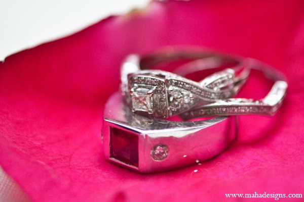 Pakistani wedding rings in Chicago, Illinois Pakistani Wedding by Maha Designs