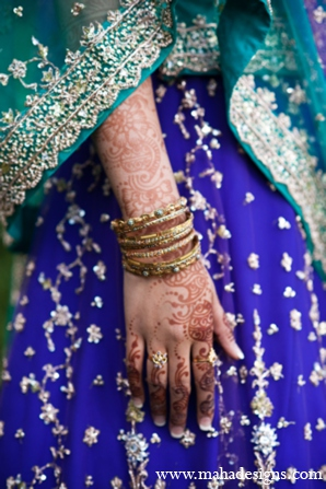Pakistani mehndi design in Chicago, Illinois Pakistani Wedding by Maha Designs