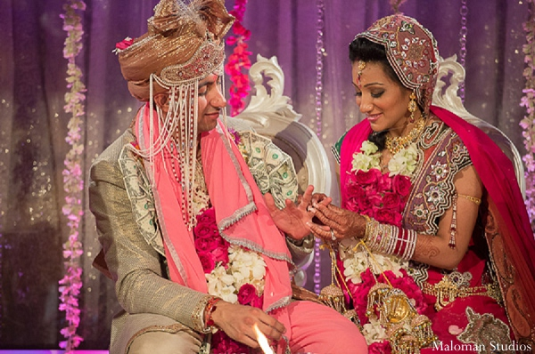 Indian wedding bride groom ceremony customs in New York, New York Indian Wedding by Maloman Studios