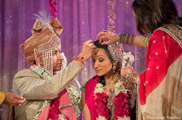 Indian wedding bride groom tradition ceremony in New York, New York Indian Wedding by Maloman Studios