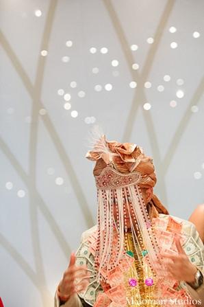 Indian wedding reception baraat groom portrait in New York, New York Indian Wedding by Maloman Studios