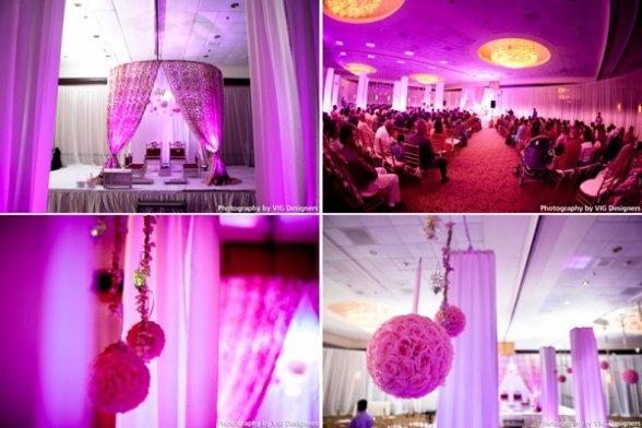 Purple Gold And White Wedding Decor Oh Decor Curtain