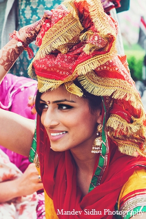 indian wedding bride sikh maiya ceremony