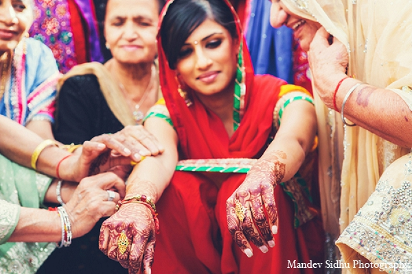 Indian wedding maiya traditions bride sikh in Seattle, Washington Indian Wedding by Mandev Sidhu Photography