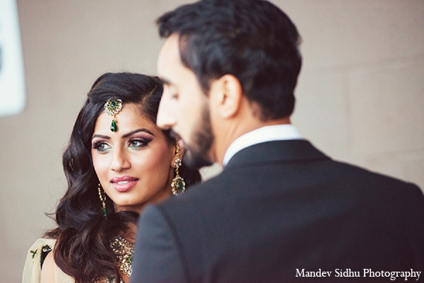Indian wedding reception portraits bride groom jewelry makeup in Seattle, Washington Indian Wedding by Mandev Sidhu Photography
