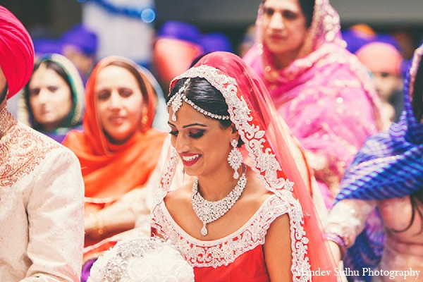 Indian wedding sikh ceremony bride in Seattle, Washington Indian Wedding by Mandev Sidhu Photography