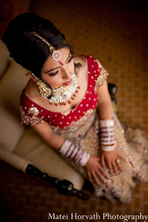 Indian wedding bridal hair in Dana Point, California Indian Wedding by Matei Horvath Photography
