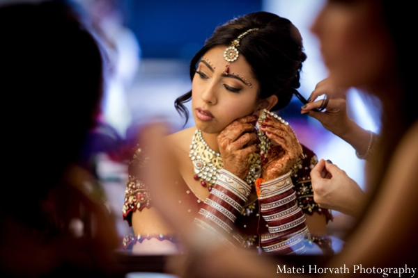 Indian wedding bridal makeup in Dana Point, California Indian Wedding by Matei Horvath Photography