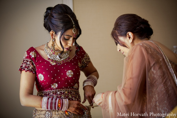 Indian wedding bridal outfit in Dana Point, California Indian Wedding by Matei Horvath Photography