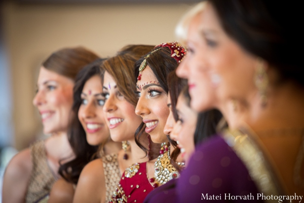 Indian wedding bridal party in Dana Point, California Indian Wedding by Matei Horvath Photography