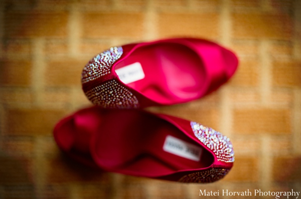 Indian wedding bridal shoes in Dana Point, California Indian Wedding by Matei Horvath Photography