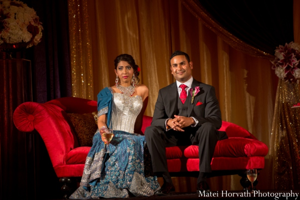 Indian wedding bride groom reception in Dana Point, California Indian Wedding by Matei Horvath Photography