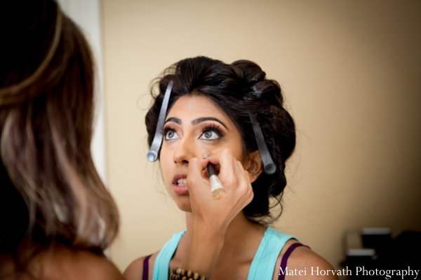 Indian wedding bride makeup in Dana Point, California Indian Wedding by Matei Horvath Photography