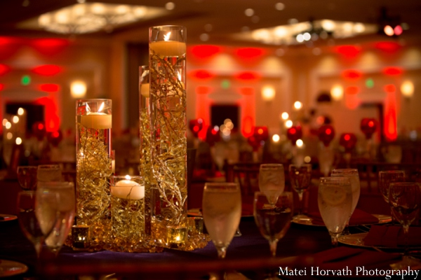 Indian wedding centerpiece lighting in Dana Point, California Indian Wedding by Matei Horvath Photography