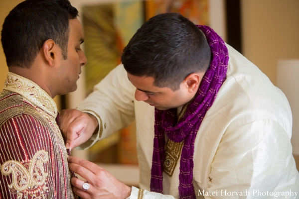 Indian wedding groom sherwani in Dana Point, California Indian Wedding by Matei Horvath Photography