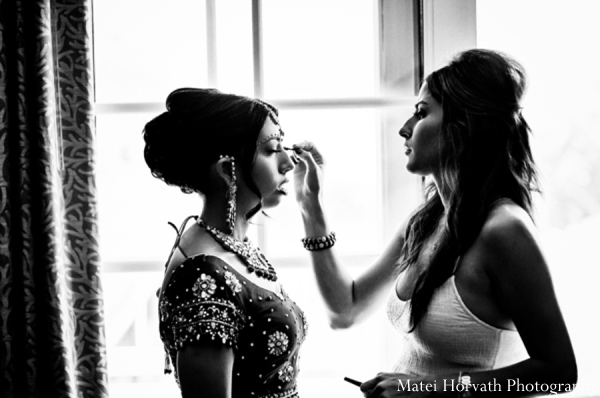 Indian wedding hair makeup in Dana Point, California Indian Wedding by Matei Horvath Photography