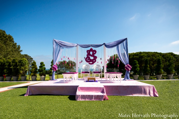 Indian wedding mandap in Dana Point, California Indian Wedding by Matei Horvath Photography