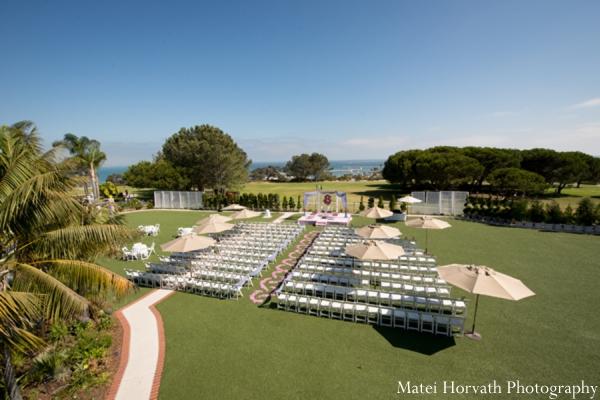 Indian wedding outdoor ceremony in Dana Point, California Indian Wedding by Matei Horvath Photography