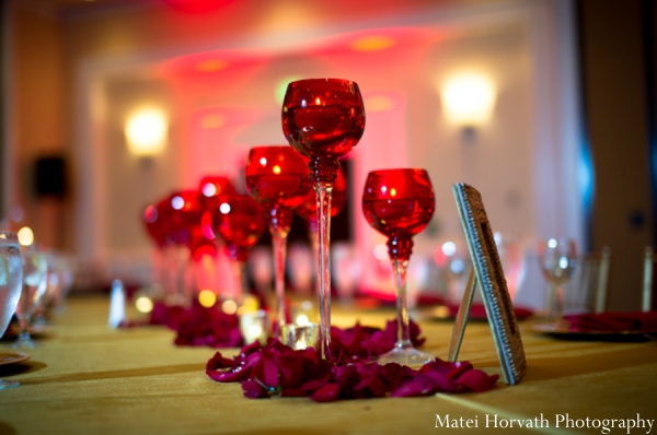 Indian wedding reception decor design in Dana Point, California Indian Wedding by Matei Horvath Photography