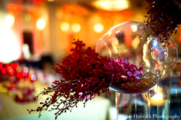 Indian wedding reception decor in Dana Point, California Indian Wedding by Matei Horvath Photography