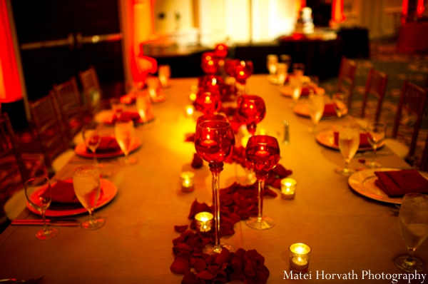 Indian wedding table setting in Dana Point, California Indian Wedding by Matei Horvath Photography