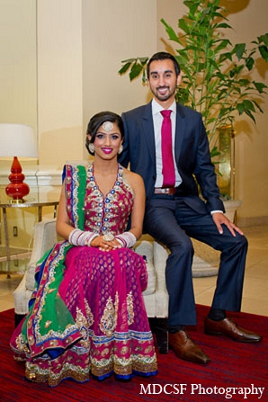 Indian wedding bride portraits groom colorful lengha in San Jose, California Indian Wedding by MDC SF Photography