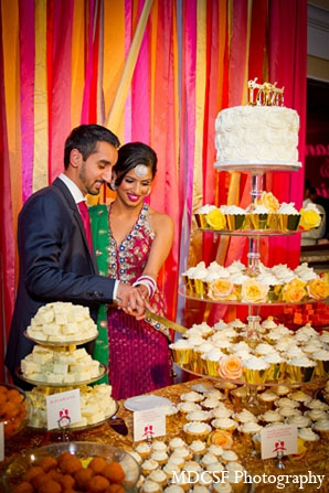 Indian wedding cake bride groom in San Jose, California Indian Wedding by MDC SF Photography