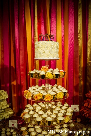 Indian wedding cupcakes cake treats in San Jose, California Indian Wedding by MDC SF Photography