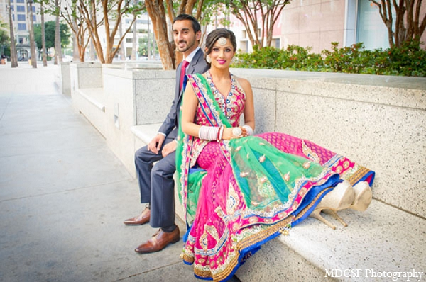 hot pink,green,bridal fashions,portraits,indian bride and groom,indian bride groom,photos of brides and grooms,images of brides and grooms,indian bride grooms,MDC SF Photography