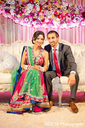 Indian wedding reception bride portraits groom in San Jose, California Indian Wedding by MDC SF Photography