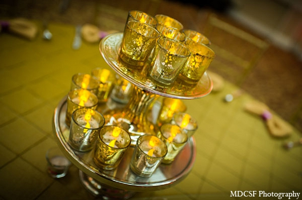 Indian wedding reception candles decor in San Jose, California Indian Wedding by MDC SF Photography