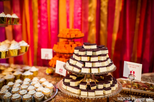 Indian wedding reception desserts treats in San Jose, California Indian Wedding by MDC SF Photography
