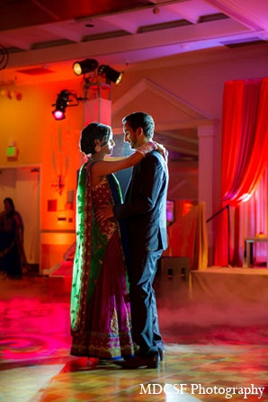Indian wedding reception first dance bride groom in San Jose, California Indian Wedding by MDC SF Photography