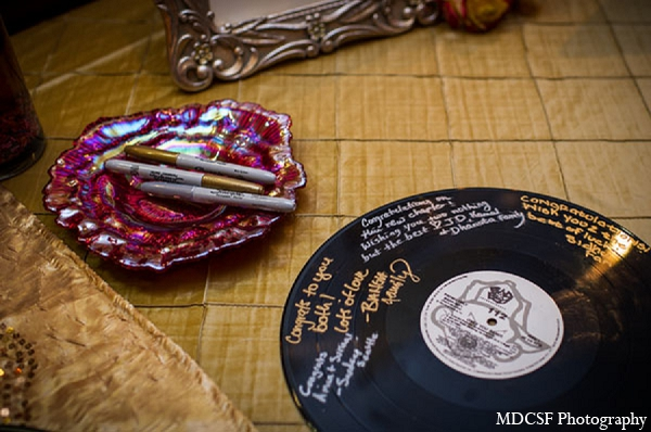 Indian wedding reception guest book idea unqiue in San Jose, California Indian Wedding by MDC SF Photography