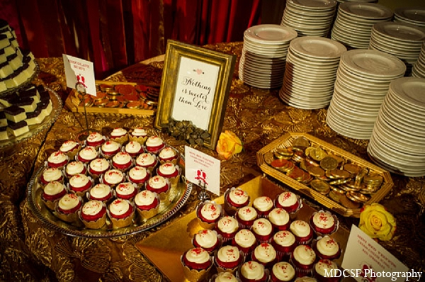 Indian wedding reception treats cupcakes desserts in San Jose, California Indian Wedding by MDC SF Photography