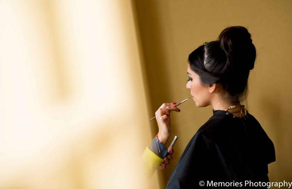 Indian wedding bridal hair and makeup in Bridgewater, New Jersey Indian Wedding by Memories Photography