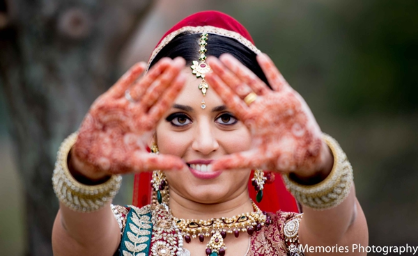 Indian wedding bridal portrait traditional dress in Bridgewater, New Jersey Indian Wedding by Memories Photography