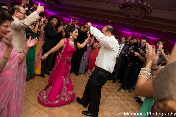 Indian wedding bride groom dance floor in Bridgewater, New Jersey Indian Wedding by Memories Photography